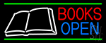 Book Open Logo Neon Sign