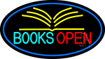 Books Red Open Neon Sign