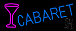 Cabaret With Wine Glass Neon Sign