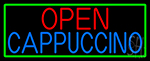Cappuccino Open Neon Sign