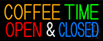 Coffee Time Open Closed Neon Sign