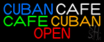 Cuban Cafe Open Neon Sign