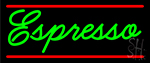 Cursive Green Espresso Neon Sign