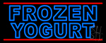 Double Stroke Blue Frozen Yogurt Neon Sign