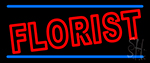 Double Stroke Florist Neon Sign