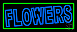 Double Stroke Flowers Neon Sign