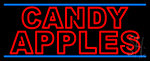 Double Stroke Red Candy Apples Neon Sign