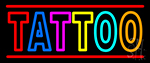 Double Stroke Tattoo Neon Sign