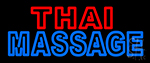 Double Stroke Thai Massage Neon Sign