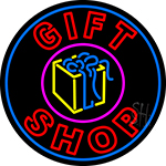 Double Stroke Gift Shop With Gifts Logo Neon Sign