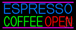 Espresso Coffee Open Neon Sign