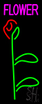 Flowers Rose Logo Neon Sign