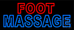 Foot With Double Stroke Massage Neon Sign