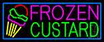 Frozen Custard With Logo Neon Sign