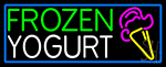 Frozen Yogurt With Logo Neon Sign