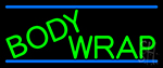 Green Body Wraps Neon Sign