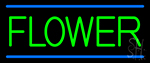 Green Flowers Neon Sign