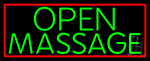 Green Open Massage Neon Sign