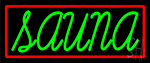 Green Sauna Neon Sign