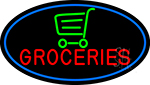 Groceries Art Deco Neon Sign