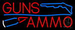Guns Blue Line Ammo Neon Sign