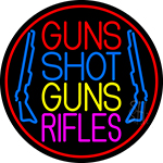 Guns Shot Guns Rifles Neon Sign
