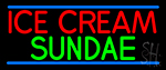 Ice Cream Sundae Neon Sign