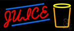 Juice With Glass Neon Sign