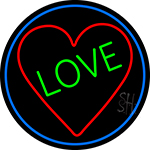 Love With Heart Neon Sign