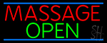 Massage Open Neon Sign