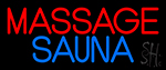 Massage Sauna Neon Sign