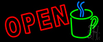 Open Coffee Mug Neon Sign
