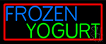 Oval Blue Green Frozen Yogurt Neon Sign