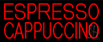 Red Cappuccino And Espresso Neon Sign