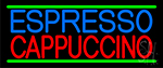 Red Cappuccino Blue Espresso Neon Sign