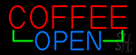 Red Coffee Open Neon Sign