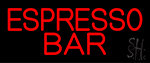 Red Espresso Bar Neon Sign