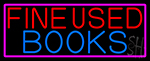 Red Fine Used Books Neon Sign