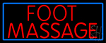 Red Foot Reflexology Neon Sign