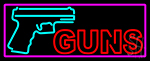 Red Gun Turquoise Logo Neon Sign