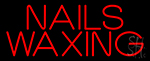 Red Nails Waxing Neon Sign