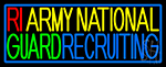 Ri Army National Guard Recruiting Neon Sign
