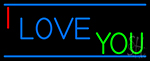 Simple I Love You Neon Sign