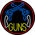 Two Gun Logo Neon Sign