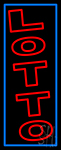Vertical Double Stroke Lotto Neon Sign