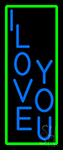 Vertical I Love You Neon Sign