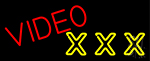 Video Triple X Neon Sign