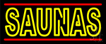 Yellow Saunas Neon Sign