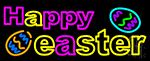 Happy Easter 2 Neon Sign