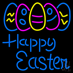 Happy Easter With Egg 2 Neon Sign